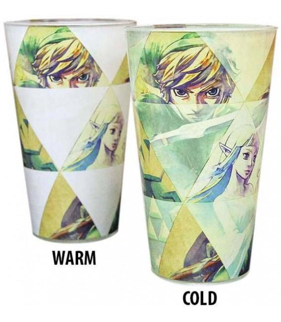 "XXXTHE LEGEND OF ZELDA - GLASS HEAT CHANGE/BICCHIERE TERMICO ""HYRULE"""