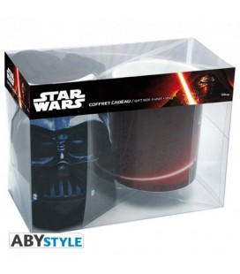 "STAR WARS - GIFT BOX - MUG/TAZZA - KINGSIZE 460ML + T-SHIRT (SIZE L ) ""DARK SIDE"""