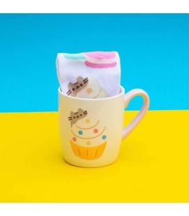"""Pusheen """"Sock in a Mug"""" - Tazza e calzini con Pusheen e Cupcake"""