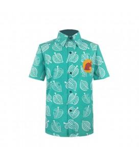 Camicia Del Tanuki Negoziante Del Villaggio - Versione Verde - Unisex - Pidak Shop