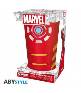 """Bicchiere """"XXL"""" Iron Man - MARVEL - Rosso - 400 ml - AbyStyle"""