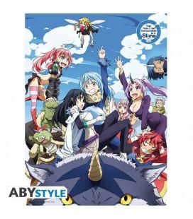 Poster Ufficiale Con Protagonisti Vita Da Slime - 52 X 38 Cm - Abystyle