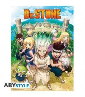 Poster Ufficiale Con Protagonisti Dr. Stone - 52 X 38 Cm - Abystyle