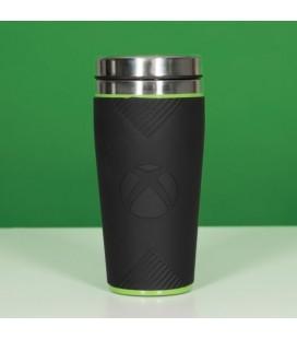 Tazza Termica Da Viaggio X-Box - Con Custodia In Silicone - Microsoft - 450 Ml - Paladone