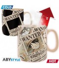 "ONE PIECE - MUG HEAT CHANGE/TAZZA TERMICA 460 ml ""WANTED"""