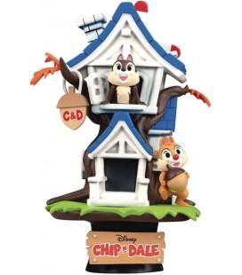"Diorama D-Stage Cip e Ciop ""Chip 'n Dale Tree House"" - Disney - 16 cm - PVC - Beast Kingdom"