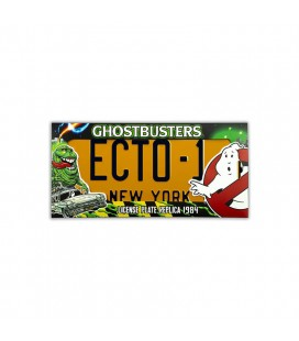 Replica targa Ghostbusters Ecto-1 - License plate 1984