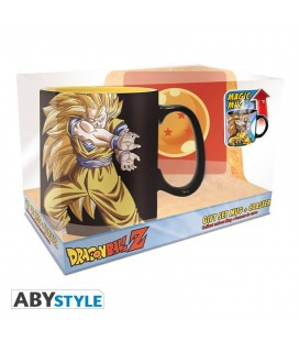 Gift Set Dragon Ball: Goku Kamehameha - Tazza Magica 460 Ml E Sottobicchiere - Abystyle