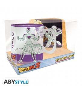 Gift Set Dragon Ball: Tazza 460 Ml E Sottobicchiere Goku Vs Freezer - 460 Ml - Abystyle