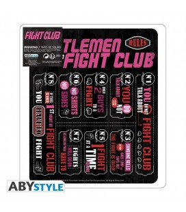 Mousepad Fight Club - Fight Club Rules - Tappetino Mouse 23 Cm