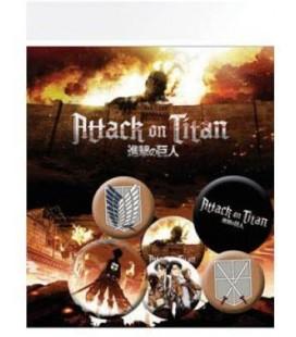Attack on Titan - Shingeki no Kyojin - Set spille Pins - Gb Eye