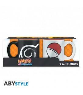 Naruto Shippuden - Abystyle - Mini mug - Tazze - Espresso Caffè - Set 2 Pz - Ceramica - 110 Ml