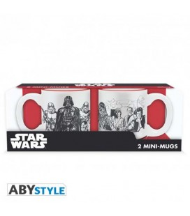 "STAR WARS - MINI MUGS/MINI TAZZE ""EMPIRE VS REBEL"""