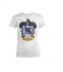 Warner Bros - T-Shirt Harry Potter - Corvonero Ravenclaw - Bianco Taglia XL