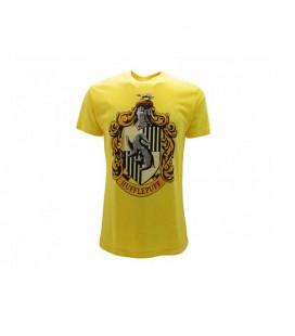 Warner Bros - T-Shirt Harry Potter - Hufflepuff - Tassorosso Giallo