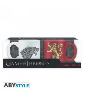 "GAME OF THRONES - MINI MUGS/MINI TAZZE 110ML ""STARK & LANNISTER"""