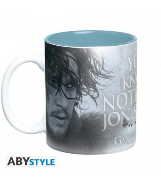 """GAME OF THRONES - MUG TAZZA 460ML """"YOU KNOW NOTHING"""" Jon Snow e Ygritte"""