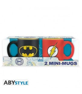 DC COMICS - SET 2 MUGS/TAZZE - LOGO BATMAN E FLASH