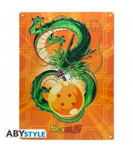 DRAGON BALL - PLACCA IN METALLO/METAL PLATE - SHENRON