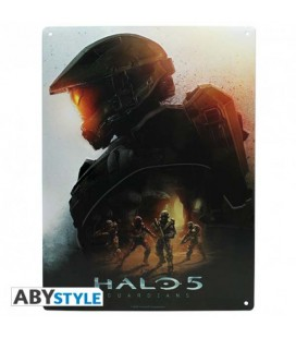 """HALO - PLACCA IN METALLO/METAL PLATE - """"HALO 5"""""""