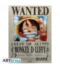 """ONE PIECE - PLACCA IN METALLO/METAL PLATE - """"MONKEY D. LUFFY WANTED"""""""