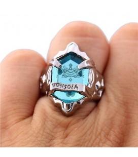 Anello Con Pietra Azzurra Della Famiglia - Misura 18 Ø - Pidak Shop
