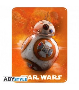 "STAR WARS - PLACCA IN METALLO/METAL PLATE - ""BB8"""