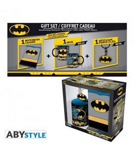 Dc Comics - Gift Box - Mug/Tazza 320Ml + Portachiavi/Keyring +Notebook Batman