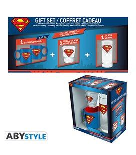 Dc Comics - Gift Box - Glass/Bicchiere 29Cl + Shot + Mini Mug/Tazza Superman